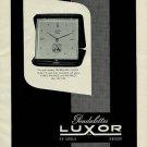 1956 Luxor Clock Company Luxor Pendulettes Switzerland 1956 Swiss Ad Suisse Advert Horlogerie