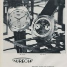 Aureole Watch Company Switzerland Vintage 1970 Swiss Ad Suisse Advert Horology