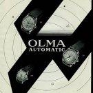1950 Olma Watch Company Numa Jeannin SA Vintage 1950 Swiss Ad Suisse Advert