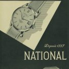 1957 National Watch Company La Chaux-de-Fonds Switzerland Vintage 1957 Swiss Ad Suisse Advert