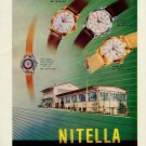 1956 Nitella Watch Company Tramelan Switzerland Vintage 1956 Swiss Ad Suisse Advert