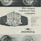 1968 Mondia Watch Company Switzerland Vintage 1968 Swiss Ad Suisse Advert Horology Horlogerie