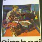 1968 Nicola Simbari Vintage 1968 Art Ad Advert Galleria 88 Roma Wally F. Galleries, NY