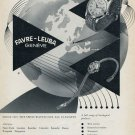 1955 Favre-Leuba Watch Company Vintage 1955 Swiss Ad Suisse Advert Geneva Switzerland