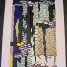 Roy Lichtenstein Water Lilies with Cloud Art Ad Advertisement