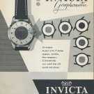 1955 Invicta Watch Company Switzerland Vintage 1955 Swiss Ad Suisse Advert