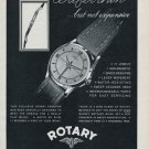 1955 Rotary Watch Company Switzerland Vintage 1955 Swiss Ad Suisse Advert Horology