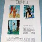 1976 Salvador Dali The Lovers Trilogy Vintage 1976 Art Ad Advert Advertisement