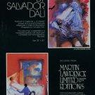 Salvador Dali L'Aventure Medicale 1980 Art Ad Advert Advertisement