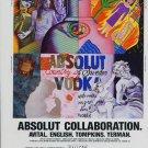 Absolut Collaboration Ron English Betty Tompkins Solomon Avital Marcia G. Yerman Absolut Vodka Ad