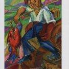 David Davidovich Burliuk Japanese Fisherman Art Ad Advert