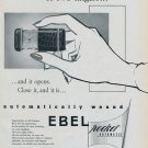 Ebel Watch Company 1955 Swiss Ad La Chaux-de-Fonds Switzerland Suisse Advert