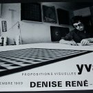 Yvaral Vintage 1969 Art Exhibition Ad Advert Denise Rene Paris