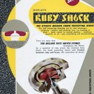 1955 Seitz Ruby Shock Company Switzerland Vintage 1955 Swiss Ad Suisse Advert