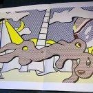 Roy Lichtenstein Reclining Bather Art Ad Advertisement