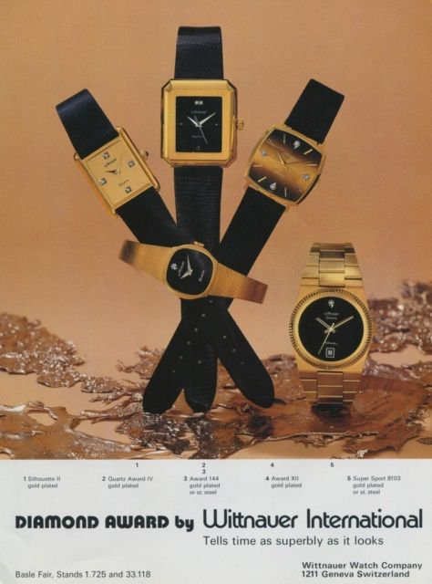 Wittnauer Watch Company Switzerland Vintage 1977 Swiss Ad Suisse Advert Horology