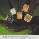 1977 Rotary Watch Company Switzerland Vintage 1977 Swiss Ad Suisse Advert Horology