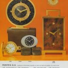 Pontifa Clock Company Pontifa SA Vintage 1977 Swiss Ad Suisse Advert Horlogerie