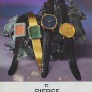 Pierce Watch Company Pierce SA Switzerland Vintage 1977 Swiss Ad Suisse Advert
