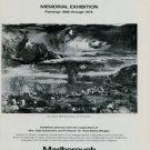 Oskar Kokoschka Vintage 1981 Art Exhibition Ad Memorial Exhibition Lac Leman II
