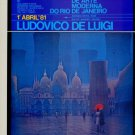 Ludovico De Luigi Vintage 1981 Art Exhibition Ad Advert Museu de Arte Moderna do Rio de Janeiro