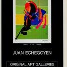 Juan Echegoyen Estuerzo Vintage 1981 Art Ad Advertisement