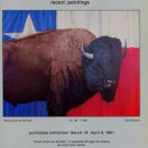1981 James Havard Tom Palmore Great American Buffalo 1981 Art Exhibition Ad Advertisement