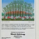 Ivan Rabuzin The Enchanted Woods Vintage 1981 Art Ad Advertisement