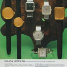 1977 Golana Watch Company Switzerland Vintage 1977 Swiss Ad Suisse Advert Horology