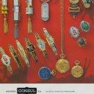 Consul Watch Company Switzerland Vintage 1977 Swiss Ad Suisse Advert Horlogerie