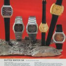 BWC Watch Company Buttes Watch Company Switzerland 1977 Swiss Ad Suisse Advert