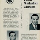 1955 Swedish Watchmakers Association Sweden 1955 Swiss Magazine Article SUF SUG Horology