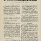 1953 The Transmission and Reception of Time Signals 1953 Swiss Magazine Article Horology