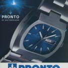 1973 Pronto Watch Company Switzerland Vintage 1973 Swiss Ad Suisse Advert Horology