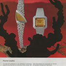 Favre-Leuba Watch Company Switzerland Vintage 1972 Swiss Ad Suisse Advert