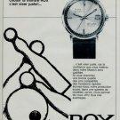 1966 Rox Watch Company Bienne Switzerland Vintage 1966 Swiss Ad Suisse Advert