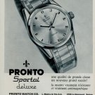 1966 Pronto Watch Company Switzerland Vintage 1966 Swiss Ad Suisse Advert Horology