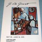 1976 George De Groat Chess Problem 1976 Art Exhibition Ad Laky Gallery, Carmel, California