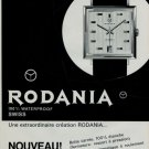 1966 Rodania Watch Company Switzerland Vintage 1966 Swiss Ad Suisse Advert Horology