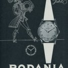 1956 Rodania Watch Company Switzerland Vintage 1956 Swiss Ad Suisse Advert Jubile