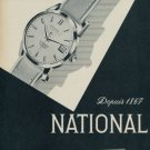 1959 National Watch Company La Chaux-de-Fonds Switzerland Vintage 1959 Swiss Ad Suisse Advert
