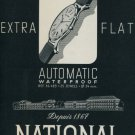 1958 National Watch Company Switzerland Vintage 1958 Swiss Ad Suisse Advert Horology