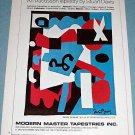1976 Stuart Davis Advertisement Ready to Wear Tapestry Vintage 1976 Art Ad Advert