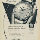 Longines Watch Company Switzerland 1959 Swiss Ad Suisse Advert Horlogerie