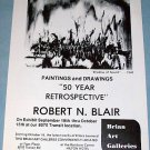 1976 Robert N. Blair Shadow of Sound Vintage 1976 Retrospective Art Exhibition Ad Advert