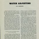 1951 Watch Adjusting w/ Reduction Table & Calculations H. Jendritzki 1951 Swiss Magazine Article