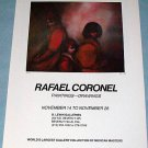 1976 Rafael Coronel Walk Vintage 1976 Art Exhibition Ad Advert B Lewin Galleries