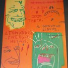 Jean-Michel Basquiat Leonardo and His Five Grotesque Heads Two Art Ads Advertisement