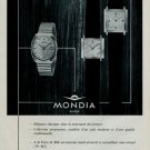 1966 Mondia Watch Company Switzerland Mondia S.A. Vintage 1966 Swiss Ad Suisse Advert Horlogerie