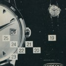 Aureole Watch Company Vintage 1958 Swiss Ad Suisse Advert Horlogerie Horology